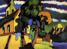 Reproduction Painting Wassily Kandinsky Village Church, Hand-Painted Reproductions Art Oil On Canvas Art Kandinsky, Wassily Kandinsky Paintings, Oil Painting Reproductions, Art Moderne, Art Abstrait, Mondrian, Oil Painting Abstract, Claude Monet, Matisse