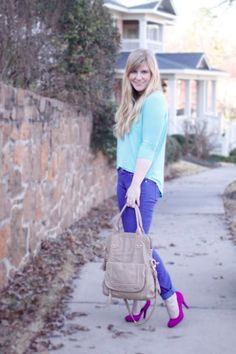 colorblocking with great spring shades