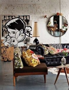 Living Room Decorating Ideas on a Budget  - diy living room ideas. id change the art/poster into an anime / manga style an make the room up with more of an asian flare