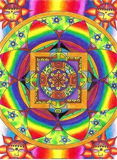 Rainbow Mandala - by kornera (Nusitz Daniéla Isabela)