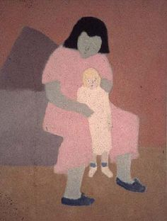 Milton Avery-Child with Doll-1944