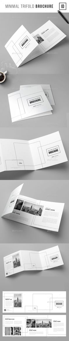 Minimal Trifold Brochure  #professional #real estate #simple #square #trifold #$9