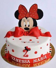 Resultado de imagen para pastel de minnie mouse rojo