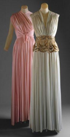 Dinner Dress - spring/summer 1940 House of Lelong (French, founded 1923) Date: