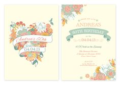 Floral Party Invitations | Personalised Garden Wedding Invitations - Pink Frosting Party Shop