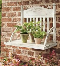 A chair becomes a plant stand.