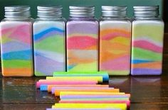 Grind up chalk and put in jar making a cool present or decoration