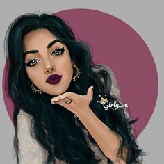 Blow me a kiss~ Girly_m Illustration Girl M, Art Girl, Girly Girl, Girly M Instagram, Sarra Art, Girly Drawings, Dope Art, Beautiful Drawings, Cute Cartoon