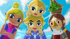 Link, Makar, Aryll, Medli and Tetra.