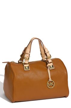 MICHAEL Michael Kors 'Grayson' Leather Satchel ($348) ** I would die if this came in black**