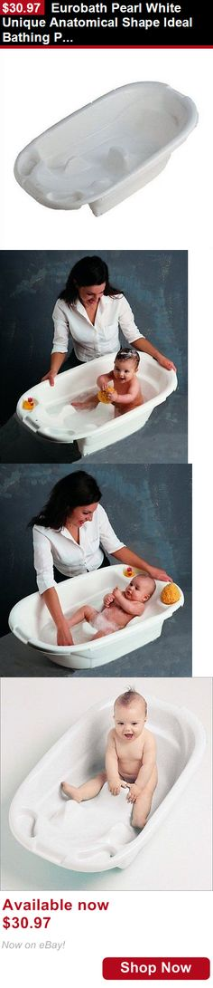Baby Bath Tubs: Eurobath Pearl White Unique Anatomical Shape Ideal Bathing Position 340W BUY IT NOW ONLY: $30.97