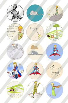 Le Petit Prince Digital Collage 1 inch round by Allsportsimages, $1.75