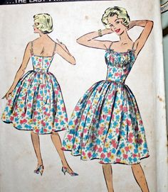 Vintage 1950s Sewing Pattern Advance 9077 by Old2NewMemories