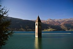 Reschensee Italy- Visit http://www.amazingplacesonearth.com/ for more good stuff :)