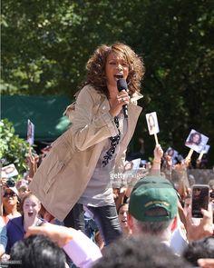 Singer Whitney Houston performs in Central Park on September 1, 2009 in New York City.