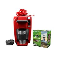 Keurig K15 Bundle ($100) ❤ liked on Polyvore featuring home, kitchen & dining, small appliances, chili red, keurig coffee brewer, stainless steel espresso coffee maker, coffee cappuccino maker, stainless steel coffee maker and stainless steel espresso maker