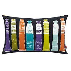 Lime green paint tube printed cushion - Cushions - Bedding - Home & furniture -