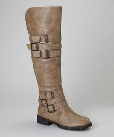 Tall, chic and edgy, yet comfy and sturdy enough for all-day wear, this pair features a plethora of trendy buckles and a zipper closure for easy removal.