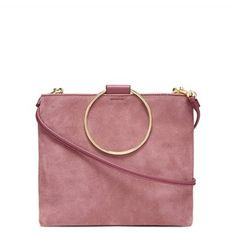 Thacker New York - Le Pouch Rose Suede