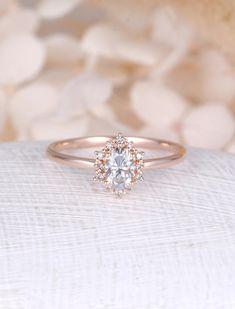 Oval Moissanite engagement ring || rose gold engagement ring || #engaged #engagementring