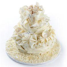 Vintage Chocolate Wedding Cake - cakes & treats