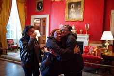 This picture brought me to tears. Women react in the Red Room after meeting First Lady Michelle Obama during their White House tour, Feb. 16, 2012. (Official White House Photo by Chuck Kennedy)