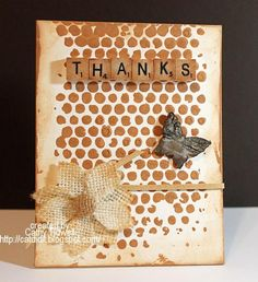 Mixed Media Thanks by catdidit - Cards and Paper Crafts at Splitcoaststampers