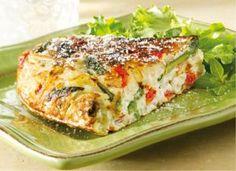 Asparagus, Red Pepper, and Potato Frittata | http://recipes.sandhira.com/asparagus-frittata.html