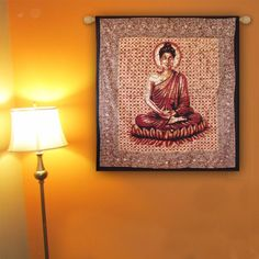 The Ethnic Lord Buddha wall hanging Traditional art of India. #hippie #trippy #boho #bohemain #onsale #roomdecor #bedroomdesign #homeimprovement #walldecor