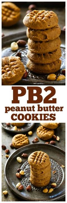 I love these PB2 Peanut Butter Cookies because they have RICH peanut butter flavor with less sugar and fat than regular PB cookies. Vegan and gluten free.