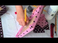 Passo-a-passo para se fazer uma caixa forrada de tecido.
