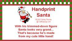 Handprint santa poem