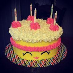 Nana made a Shopkins Birthday Cake for E!