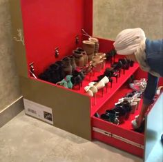 The Terrier and Lobster: The Wood Sheikh Giant Christian Louboutin Shoe Box Shoe Holder
