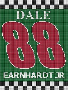 Dale Earnhart Jr free crochet patterns | DALE EARNHARDT JR CROCHET PATTERN AFGHAN GRAPH E-MAILED.PDF