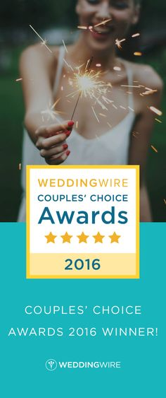 Our recent reviews have earned us the WeddingWire Couples' Choice Awards 2016! Thank you @criselortiz @saralfresh @AlisonNoell @maile18 @elysewhall @jakebrenner
