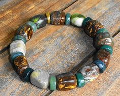 Man and Nature Rustic Stone Primitive by MountainMagicJewelry