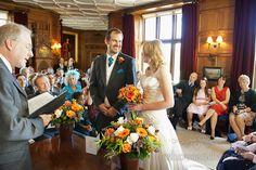 Wedding ceremony in Sherborne castle, Dorset. Photography by one thousand words wedding photographers www.onethousandwords.co.uk