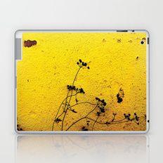 Minimal flora - Yellow wall and flowers Laptop & iPad Skin