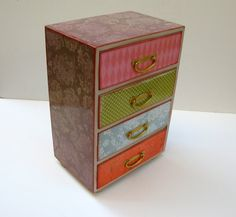 Pastel Damask Four Drawer Chest Of Drawers by MyButterflySister, $95.00