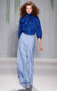 Plaid for spring, ladies and gentlemen.  We've seen it across shows this week, and Jenny Packham is one of them. via StyleList