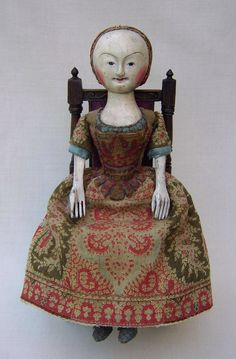 17th-century english wooden doll.