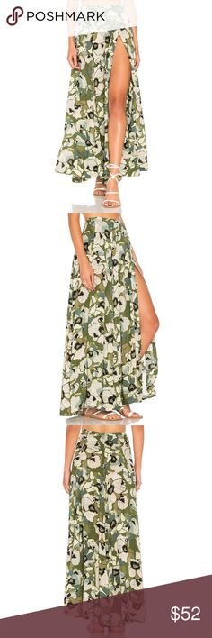 New Free People Hot Tropics Maxi Skirt Free People Hot Tropics Maxi Skirt in Moss •New with tags •Size 8 •Retails for $128  Check out my other listings- Nike, adidas, Michael Kors, Kate Spade, Miss Me, Coach, Wildfox, Victoria's Secret, PINK, Under Armour, True Religion, Ugg Australia, Free People and more! Free People Skirts Maxi