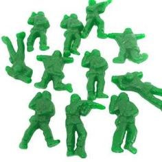 There are about 50 unwrapped candy army men per bag. These delicious gummy army men are flavored in green apple. Each army man is long. Item also avaliable in a bag. And they are currently out of these damnit Camouflage Party, Camo Party, Nerf Party, Toy Story Party, Toy Story Birthday, Birthday Ideas, 5th Birthday, Army Men Toys, Online Candy Store