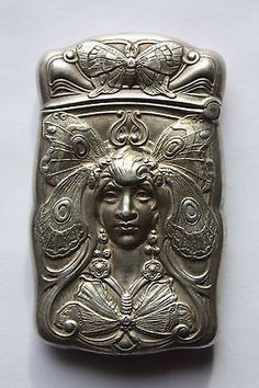 Amazing Antique Art Nouveau Sterling Silver Gorham Butterfly Woman Match Safe | eBay