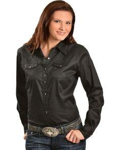 979fae7dcb Wrangler Women s Black Long Sleeve Western Top