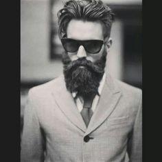 Beard in suit