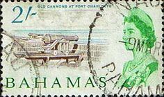 Postage Stamps of Bahamas 1965 SG 257 Scott 214 Old Cannons at Fort Charlotte Fine Used Other West Indies and British Commonwealth Stamps HERE!
