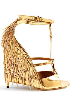 Tom Ford Spring 2013 gold spiked High Heel t-strap sandal #shoes