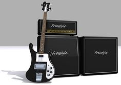 Bass guitar and amps models, 3DS MAX